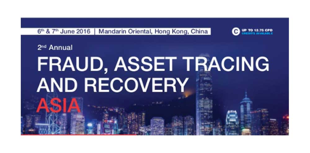 """Abraham Vergis speaks at """"C5's 2nd Fraud, Asset Tracing & Recovery Asia Forum"""""""