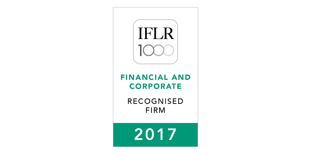PLA Recognised by IFLR1000 2017 – Rising Star